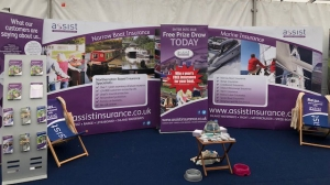 Crick Boat Show stand