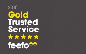 Feefo gold trusted award