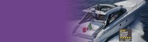 Speed boat insurance banner