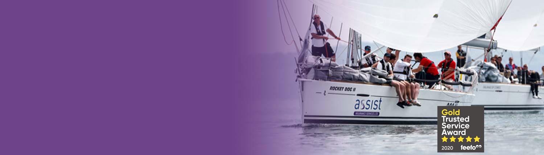 Yacht insurance banner